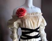 Summer Blouse. Pirate. Plus Size. Custom. S. M. L. Gothic Lolita. Victorian. Renaissance. Fairy. Long Sleeves.