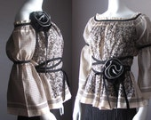 Gothic Lolita Peasant Princess Pirate Blouse. Custom Made in YOUR Size.  Plus Size Perfect Blouse. Maternity. Renaissance