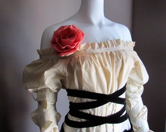 Summer Blouse. Pirate. Plus Size. Custom. S. M. L. Gothic Lolita. Victorian. Renaissance. Fairy. Long Sleeves.