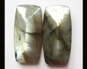 Labradorite Faceted Cabochon Pair,27x13x7mm,7.51g