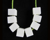 8 PCS Howlite Necklace Bead,3mm hole,14x12mm,42.41g