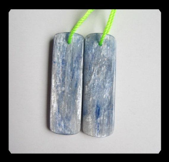 Blue Kyanite  Earring Bead,32x10x3mm,6.19g