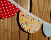 Birthday Party Hat Fabric Garland