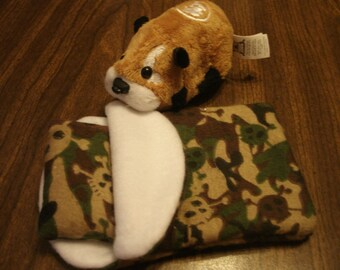 ZHU ZHU Pets Hamster Sleeping Bag Green Camo Skull
