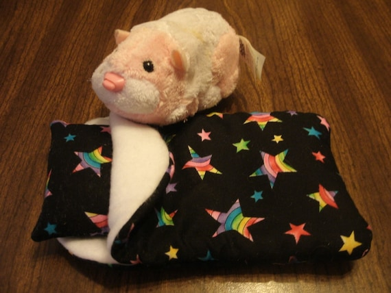 ZHU ZHU Pets Hamster Sleeping Bag Rainbow Stars
