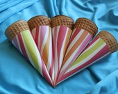 Pink Zebra Summer Swirl Cone Wrappers (set of 20)