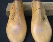 One pair of women's style 6011 wooden low heel shoe lasts