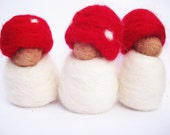 Listing for Amy - 9 Tiny Toadstool Babies