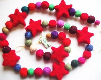 Felt Star Garland - (100cm) Custom made