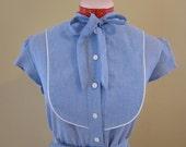 1970/80's chambray dress (size m/l)