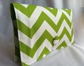 Diaper Wipe Clutch- Lime Green Chevron-  Organize your Diaper Bag