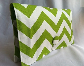 Diaper Wipe Clutch- Lime Green Chevron-  Organize your Diaper Bag