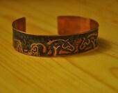 Etched Copper Cuff with Horse Design