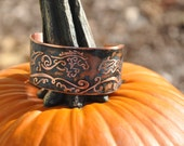 Etched Copper Cuff with Jump Series Design