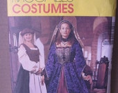 Renaissance Costume Pattern Full Figure 24W to 28W M2243 gown peasant blouse headpiece