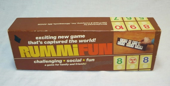 Vintage Rummifun Rummikub Challenging Fun Family Game By Dan