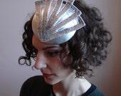 Silver sequin mini hat