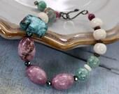 Turquoise Elephant Bracelet, Multi Color Bracelet