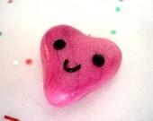 Kawaii Heart Charm, Polymer Clay Kawaii Heart Charm