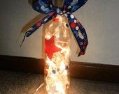 American Themed Wine Bottle Lamp