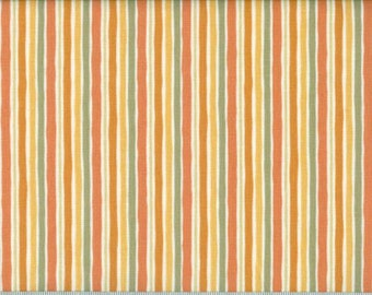Gray and Browns Striped Quilting Fabric  2 Yards