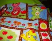 """Carebears Personalized Baby Blanket 36""""x30"""""""