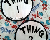 Thing 1 and Thing 2 Iron-On Applique
