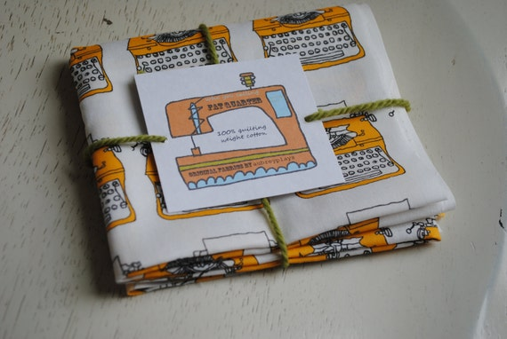 typewriters dreamsicle.  Original Fabric Fat Quarter