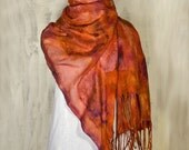 Nuno Felt  Scarf /Wrap Hand Dyed Ultra Thin Spring Summer Fashion