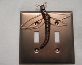 Custom Lizard Light Switch Cover Double Antique copper