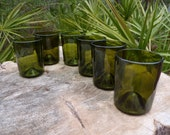 recycled wine bottle tumblers set of 6 item 1102