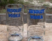 recycled absolut bottle tumblers item 163