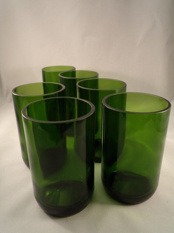 recycled repurposed champagne bottle tumblers set of 6 by ...