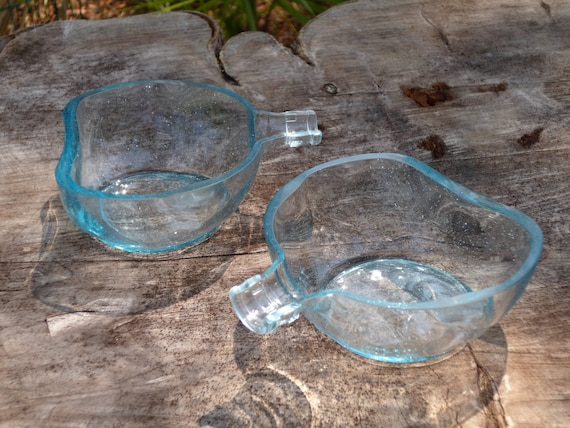 recycled glass don julio bottle set of 2 bowls item 113