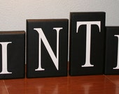 Personalized Name Wooden wood Blocks letters or HOUSE numbers LARGE. Great for MANTLES