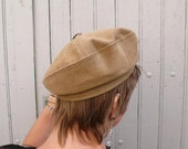 RESERVED ALIX: French Vintage hat, brown, forest, france, autumn, fall,woodland,  french vintage accessories by ancienesthetique