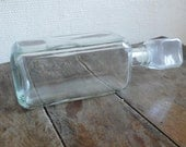Vintage Glass decanter, French, whisky, brandy, port, rum, wine, French kitchen finds by ancienesthetique