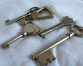 Antique  keys, french, metal, heavy, iron, supplies, mixed media, steampunk jewelry, antique,  altered art, French