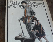 Vintage art deco magazine,  vintage advertisements, paper ephemera, antique, fashion,  twenties,black and white,