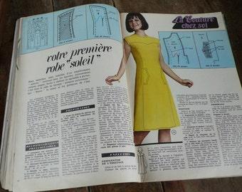 1972 Housewife Journal, Homemaker Magazine, Sewing pattern, knitting guide, Seveneties fashion Journal, best friend gift, Hostess Paper gift