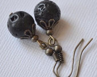 Lava Rocks . Earrings