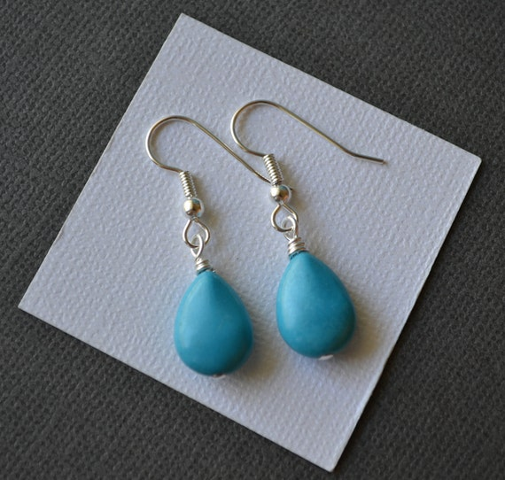 Turquoise Briolettes . Earrings . Small . Carmen Collection