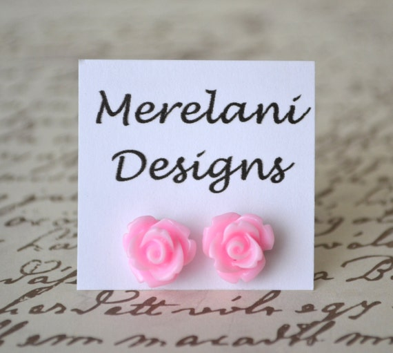 Pink Roses . Studs . Earrings . Rose Studs Collection