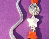 Bookmark, Silver with Star Dangle