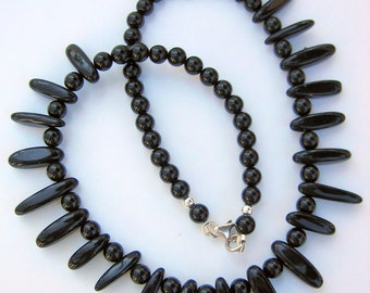 Black Onyx Choker Necklace, OOAK