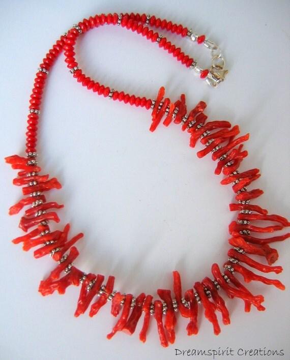 Genuine Mediterranean Branch Coral Neckace