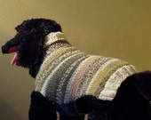Dog Sweater Hand Knit Joie Med/Lrg 16.5 inches Length