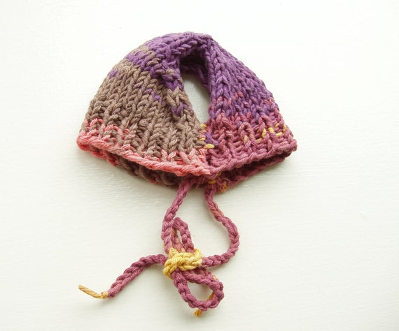 Dog Hat Hand Knit Italian Cotton Small