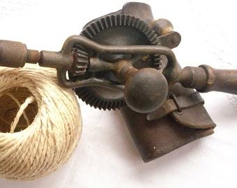 Vintage French Hand Drill Collectible