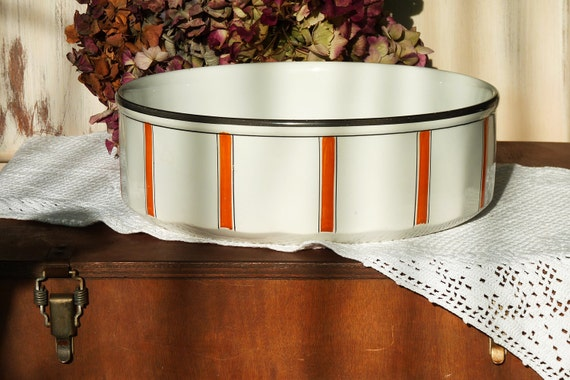 Vintage French Wash Bowl Art Deco Style